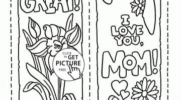 Free Mother Day Coloring Pages