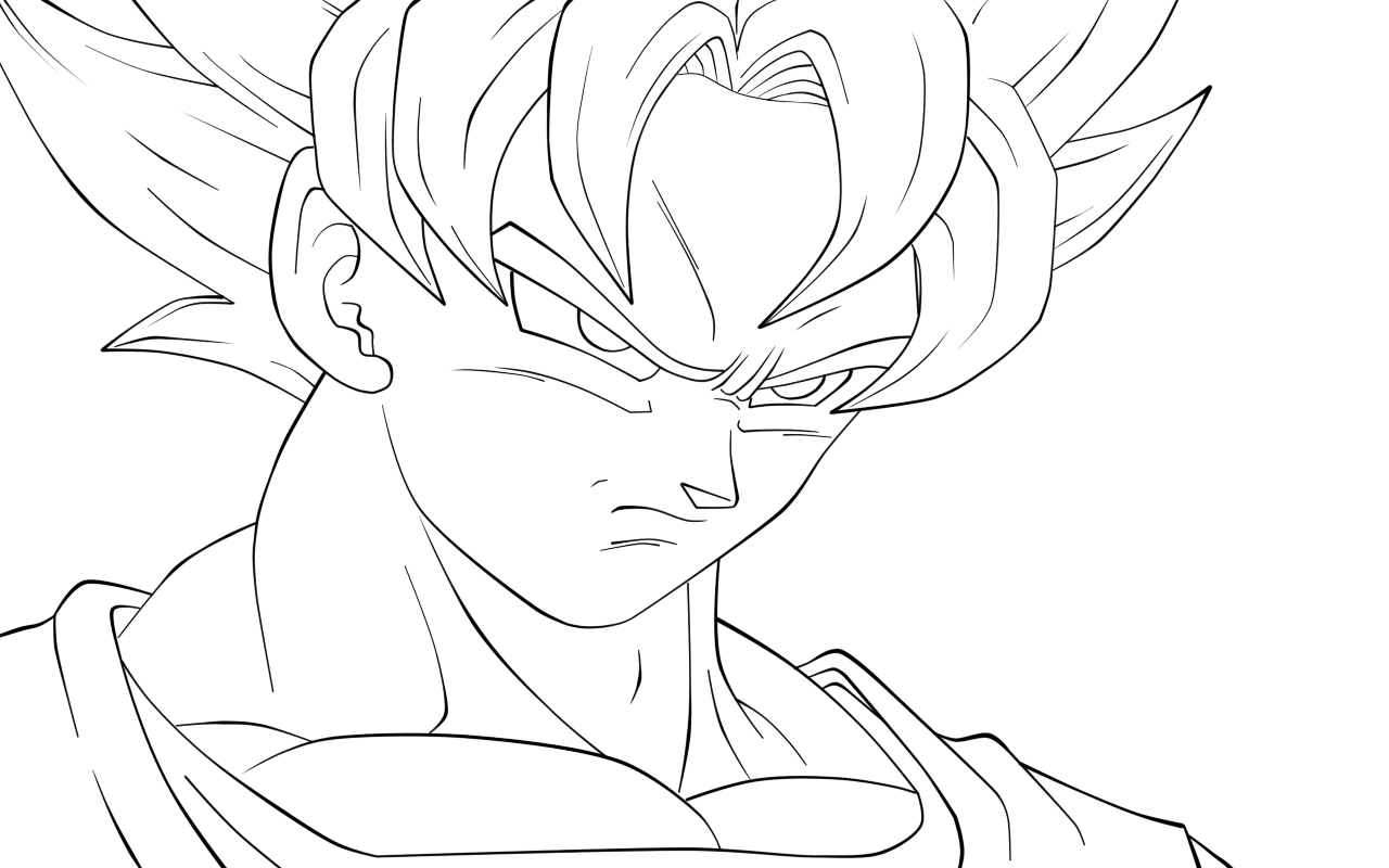 Gallery Of Dragon Ball Af Coloring Pages For Goku On