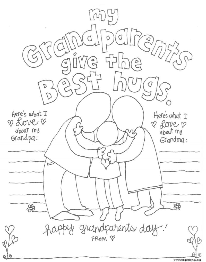 The Cutest Grandparents Day Coloring Pages