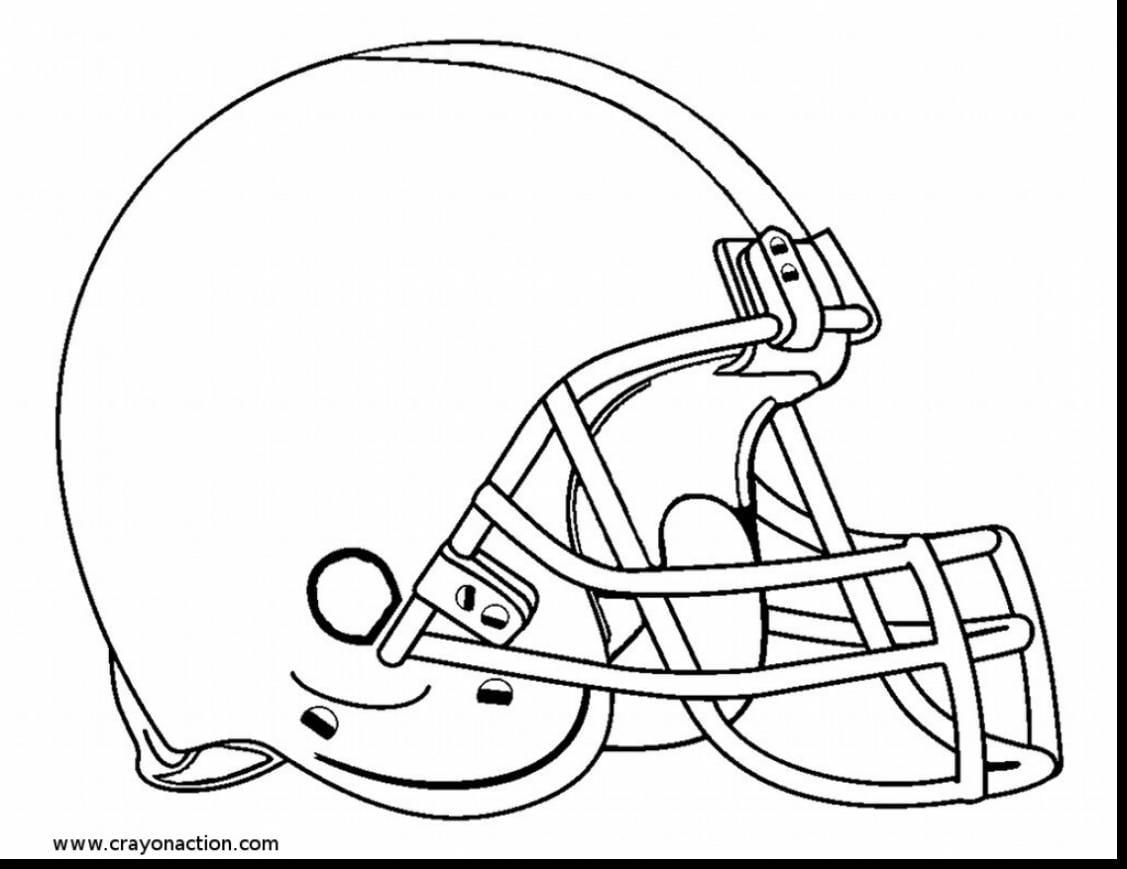 Football Helmet Coloring Page