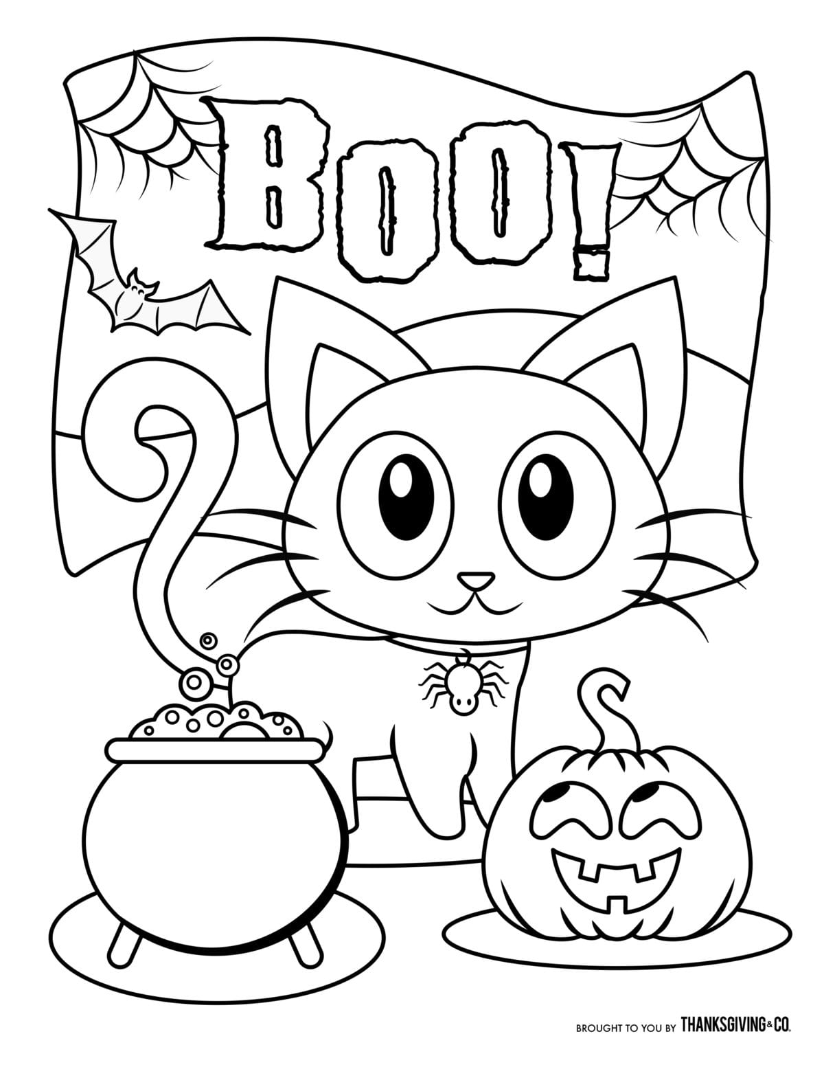 Free Halloween Coloring Pages For Kids (or For The Kid In You