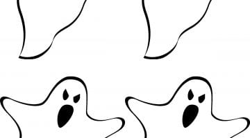 Ghost Outline Printable