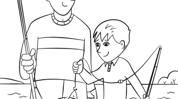 African American Fathers Day Coloring Pages