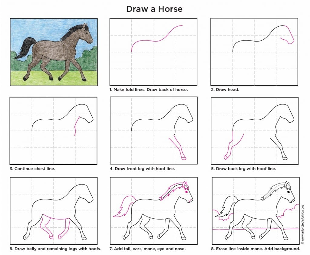 Horse Drawing Kids At Getdrawings Com