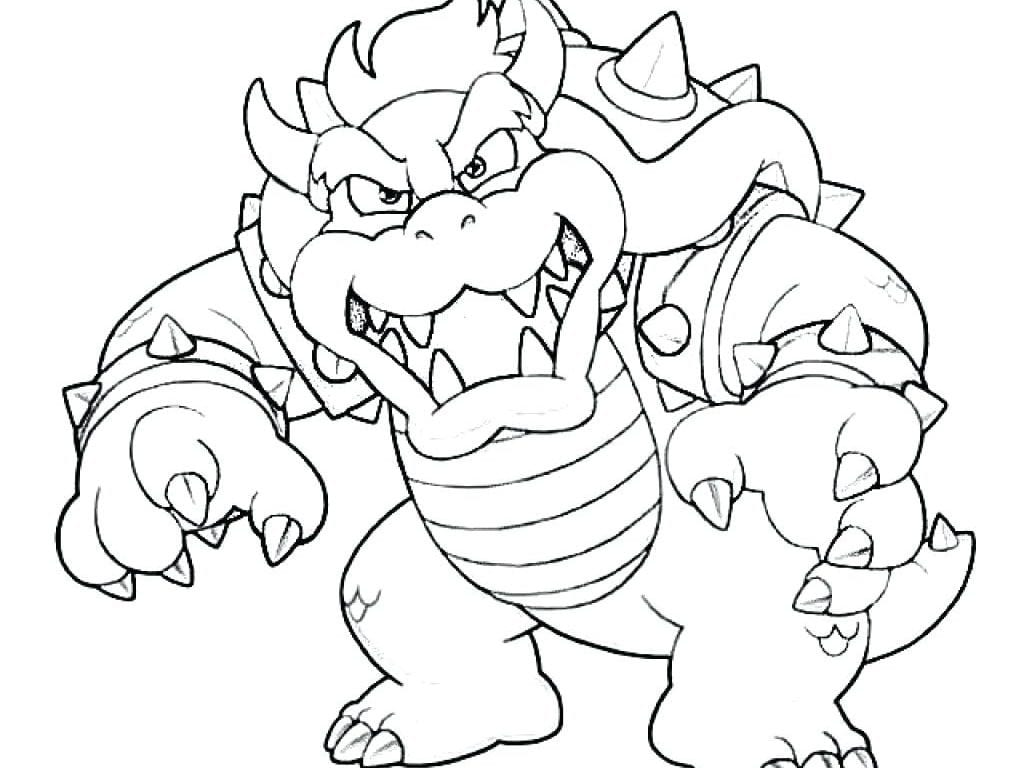 Innovative Ideas Bowser Coloring Page Bowser Coloring Pages
