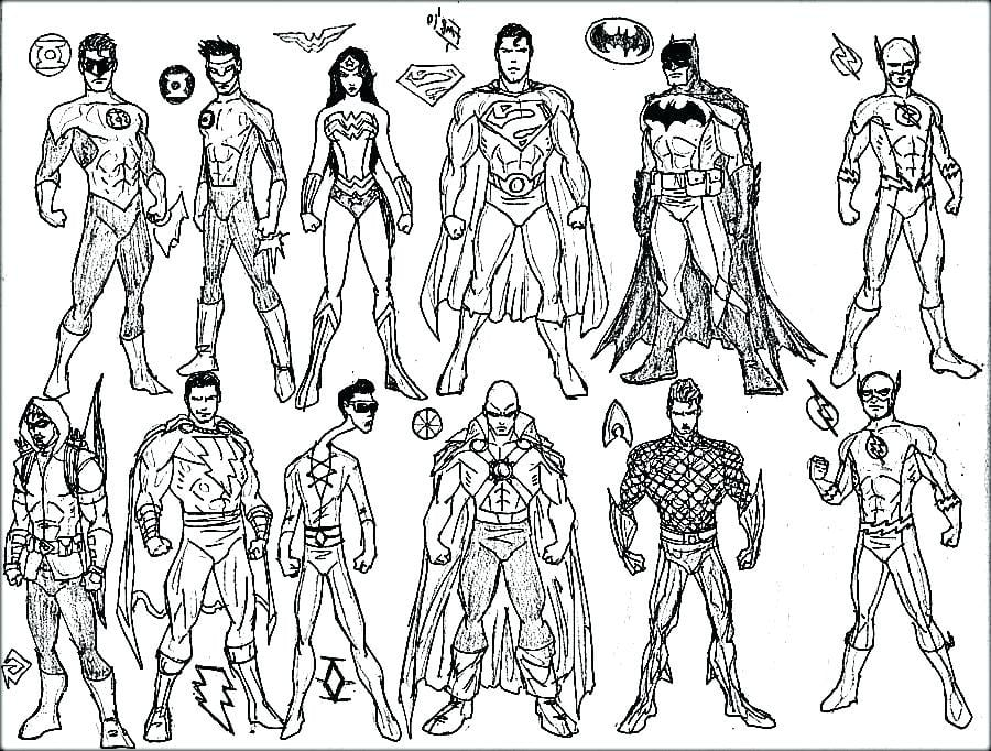 Awesome Marvel Superhero Coloring Pages Preschool To Good