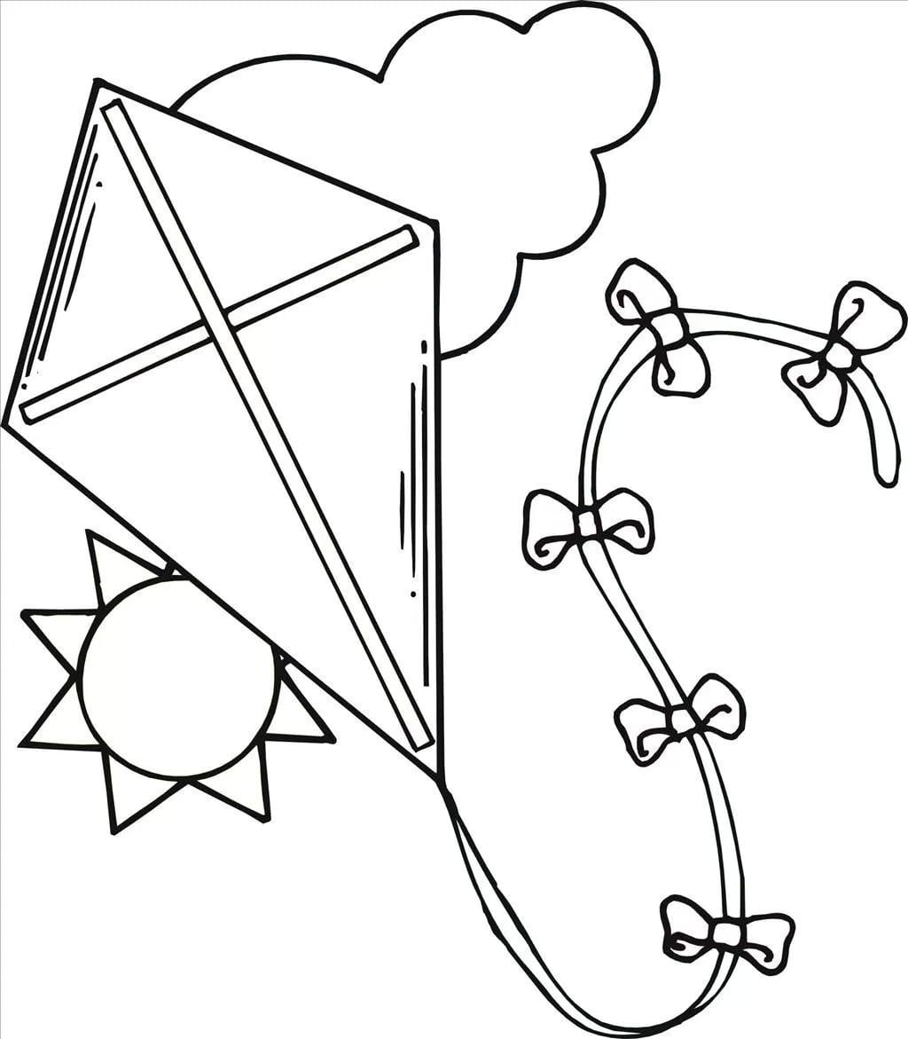 Kite Coloring Page 12