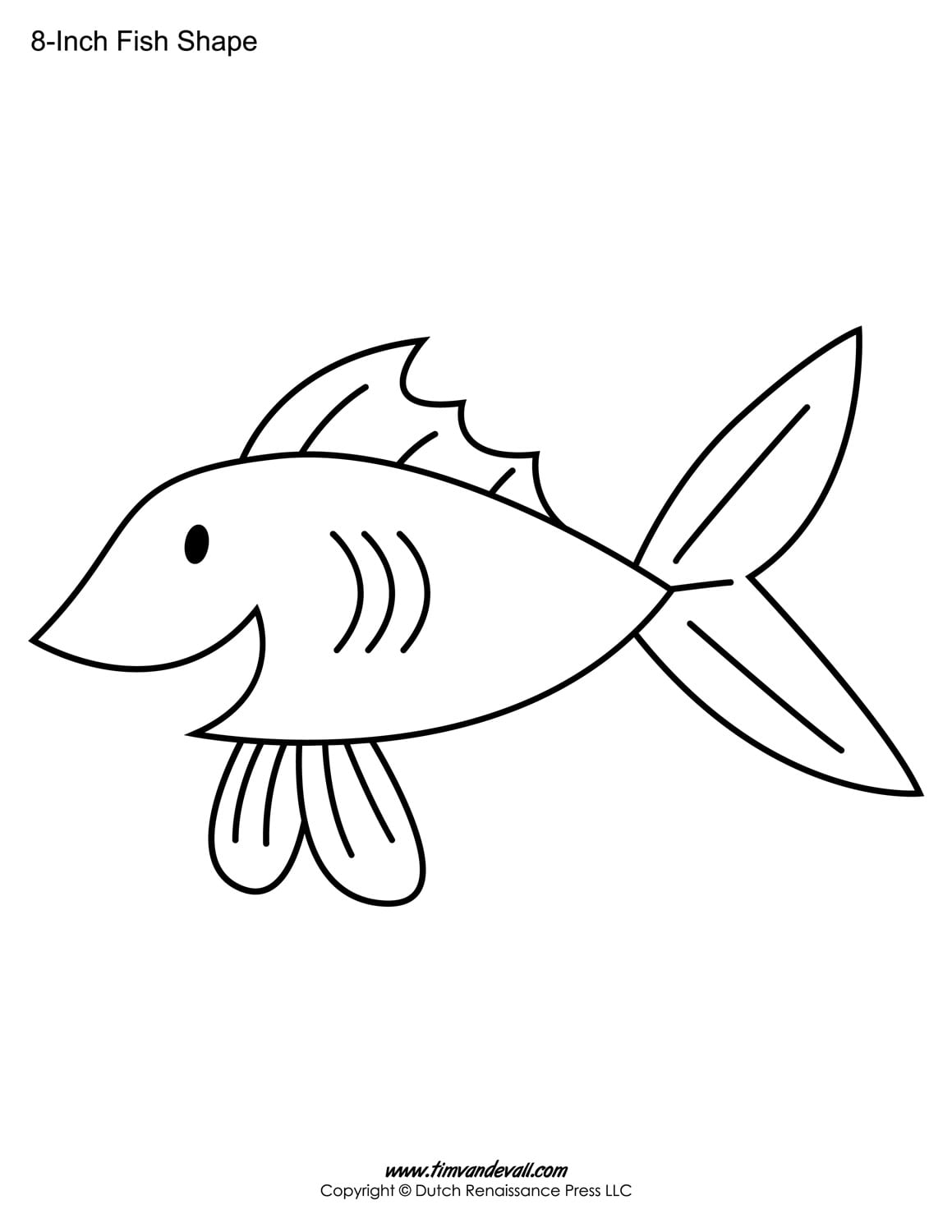 Launching Fish Outline Printable Templates For Kids Preschool