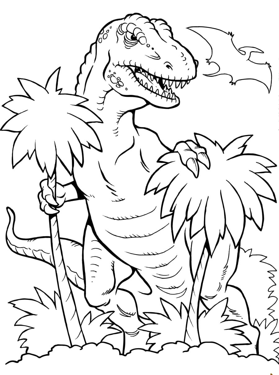 Liberal Trex Coloring Page Trex Pages Best For Kids  27299