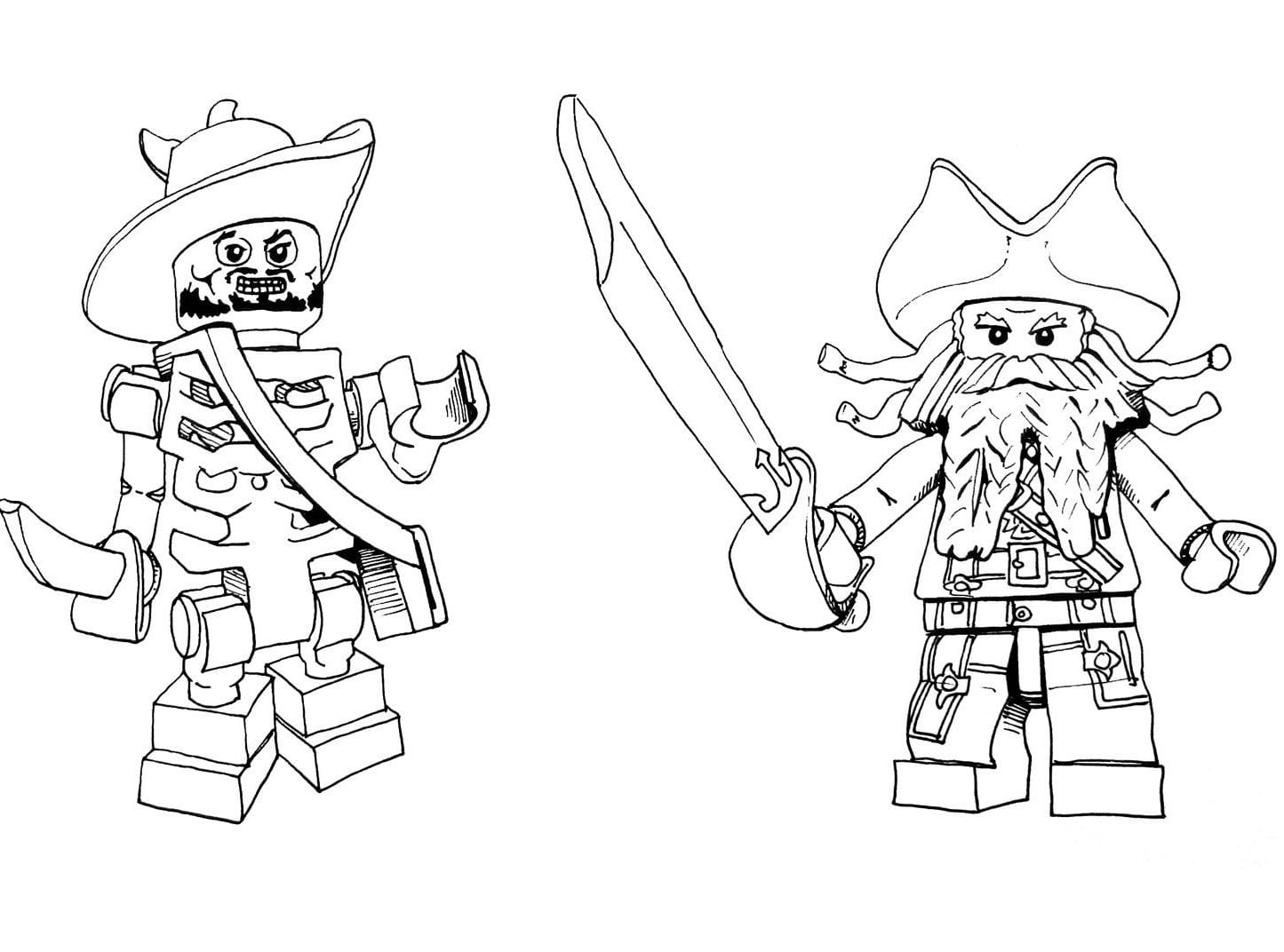 Lone Ranger Coloring Pages With Jack Sparrow