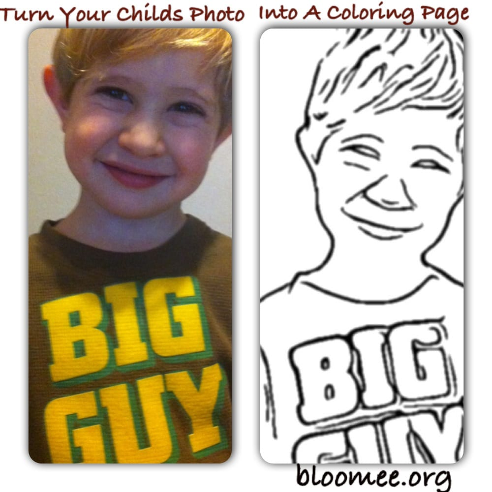 Turn Your Childs Photo Into A Coloring Page!
