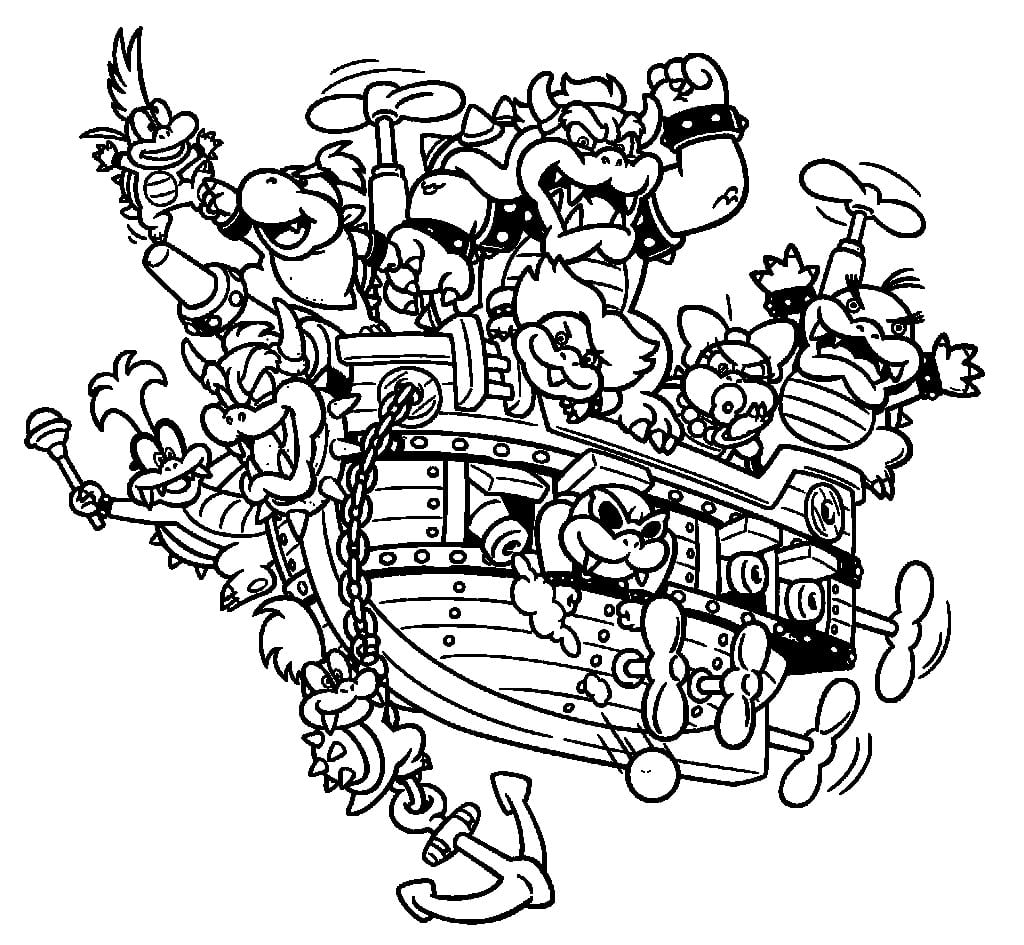 Bowser Coloring Pages Within