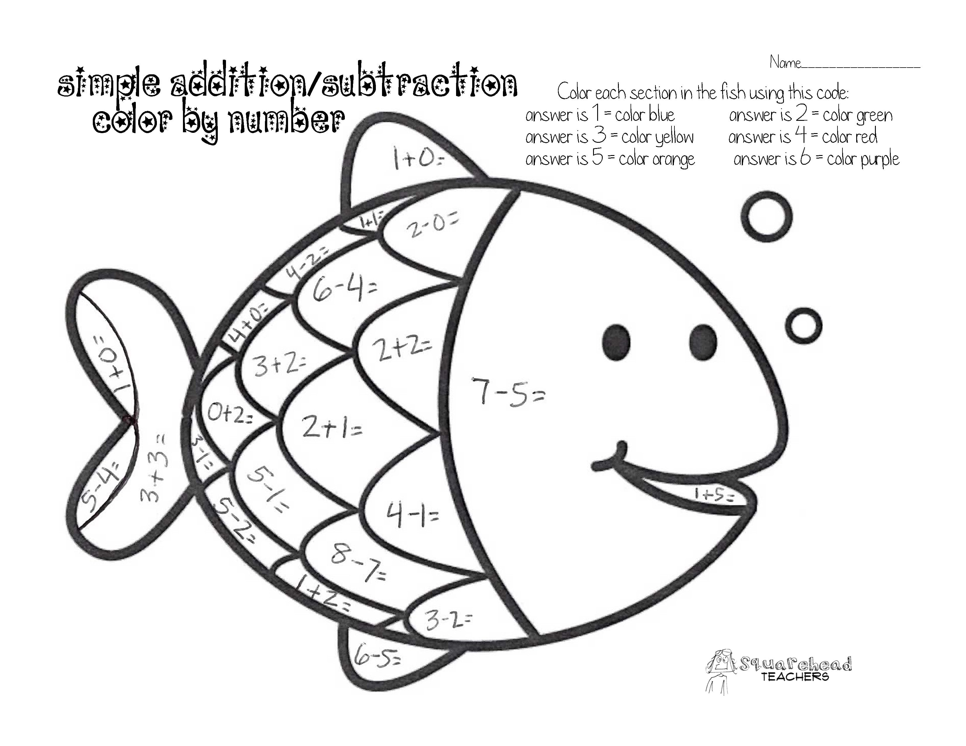 Math Addition Coloring Worksheets Acpra And Pages