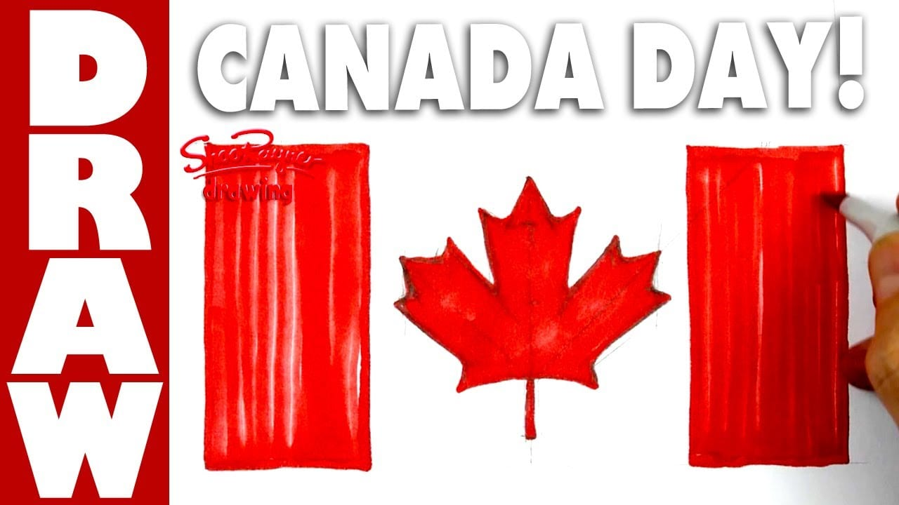 How To Draw The Flag Of Canada For Canada Day!