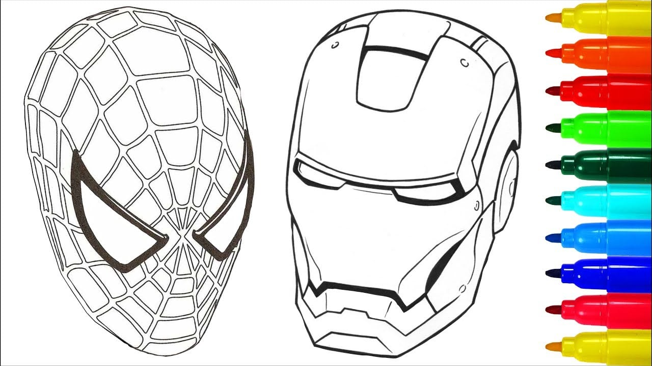 Spiderman Iron Man Coloring Pages - NEO Coloring