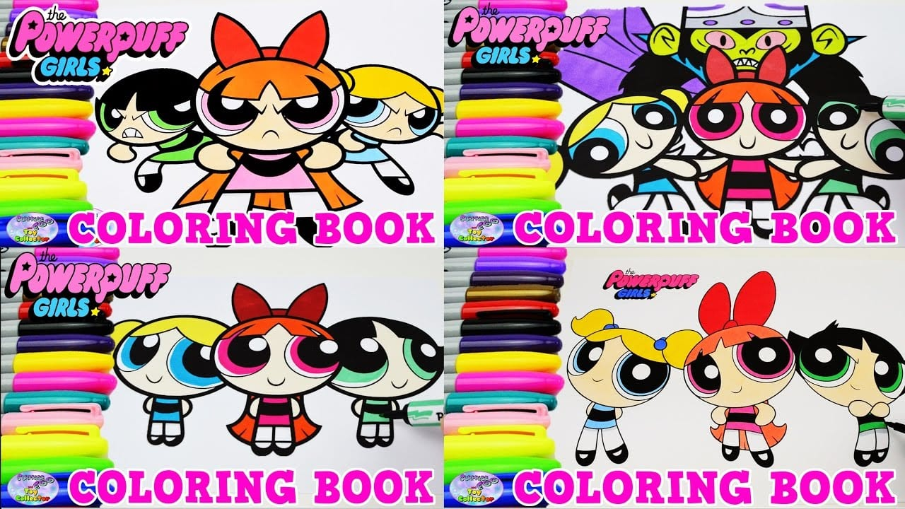 The Powerpuff Girls Coloring Book Compilation Blossom Episode