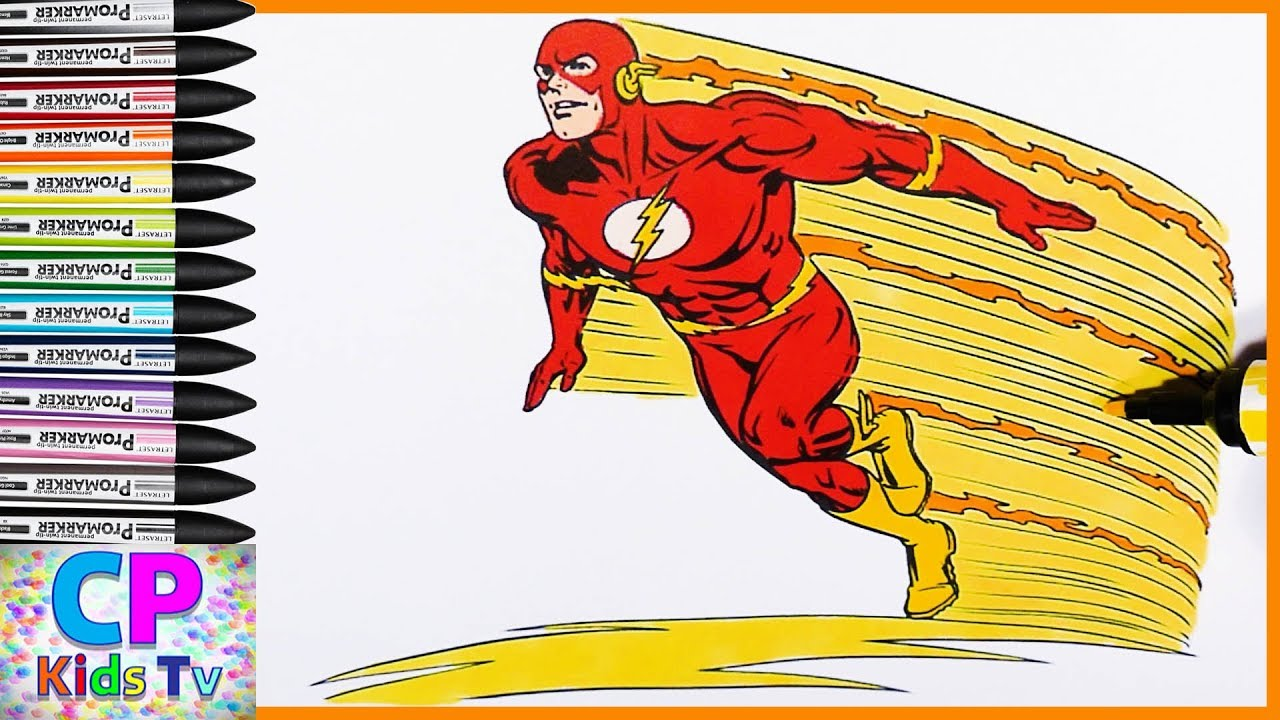 Flash Coloring Pages For Kids 10,how To Color Flash Coloring Pages