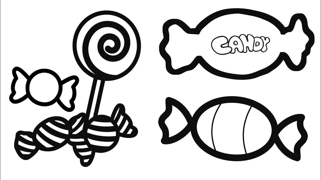 Sweet Candy Coloring Pages For Kids How To Draw And Color