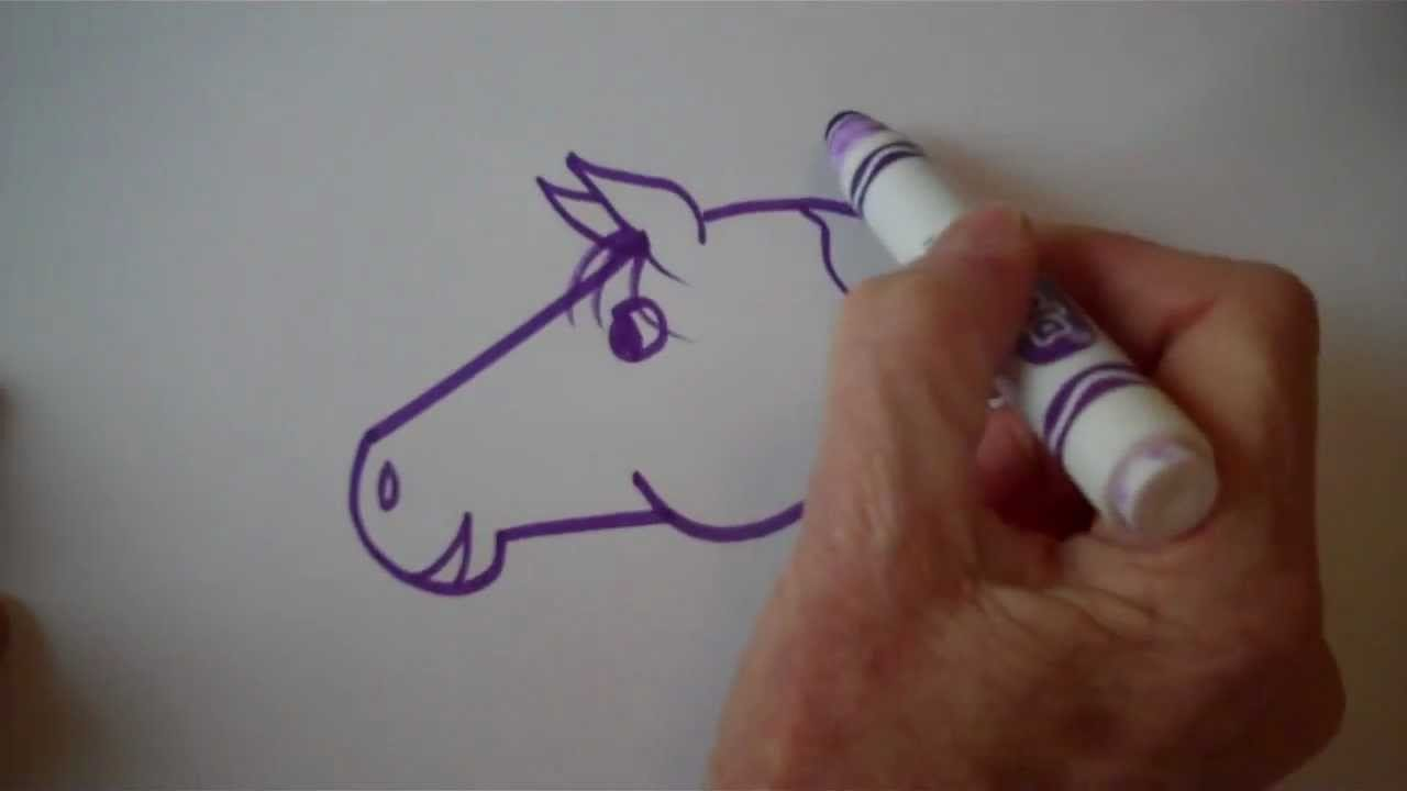 How To Draw An Easy Cartoon Horse