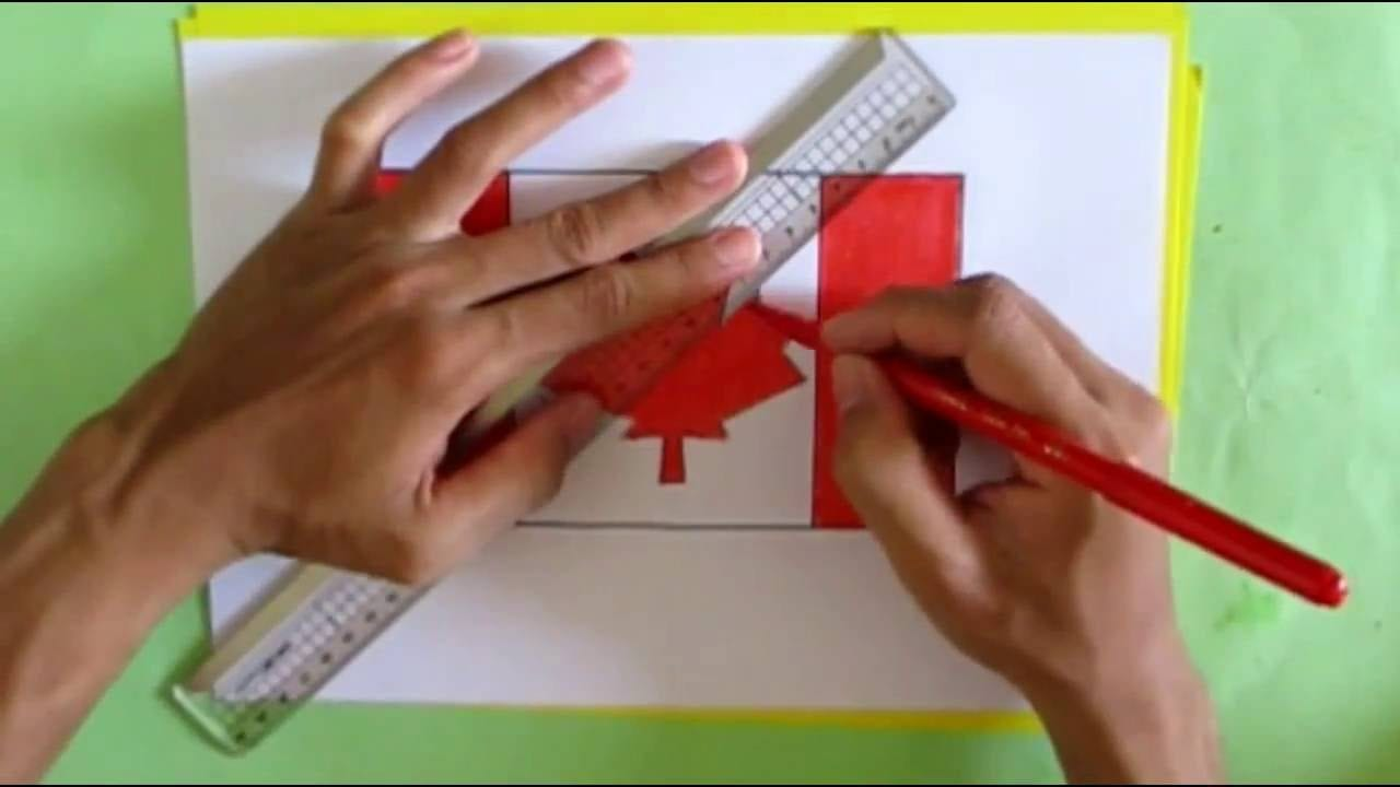 How To Draw Canadian Flag