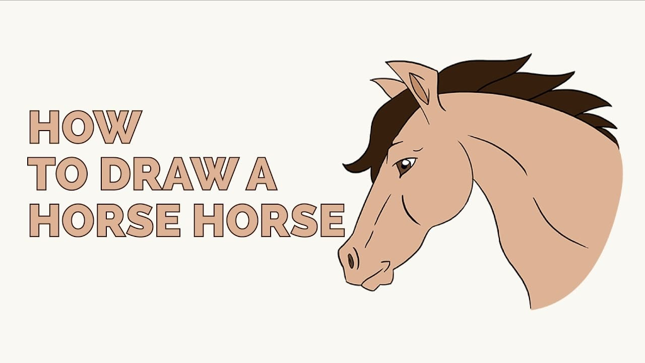 How To Draw A Horse Head In A Few Easy Steps  Drawing Tutorial For