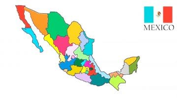 Map Of Mexico For Kids