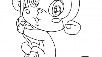 Monkey Pictures For Kids To Color