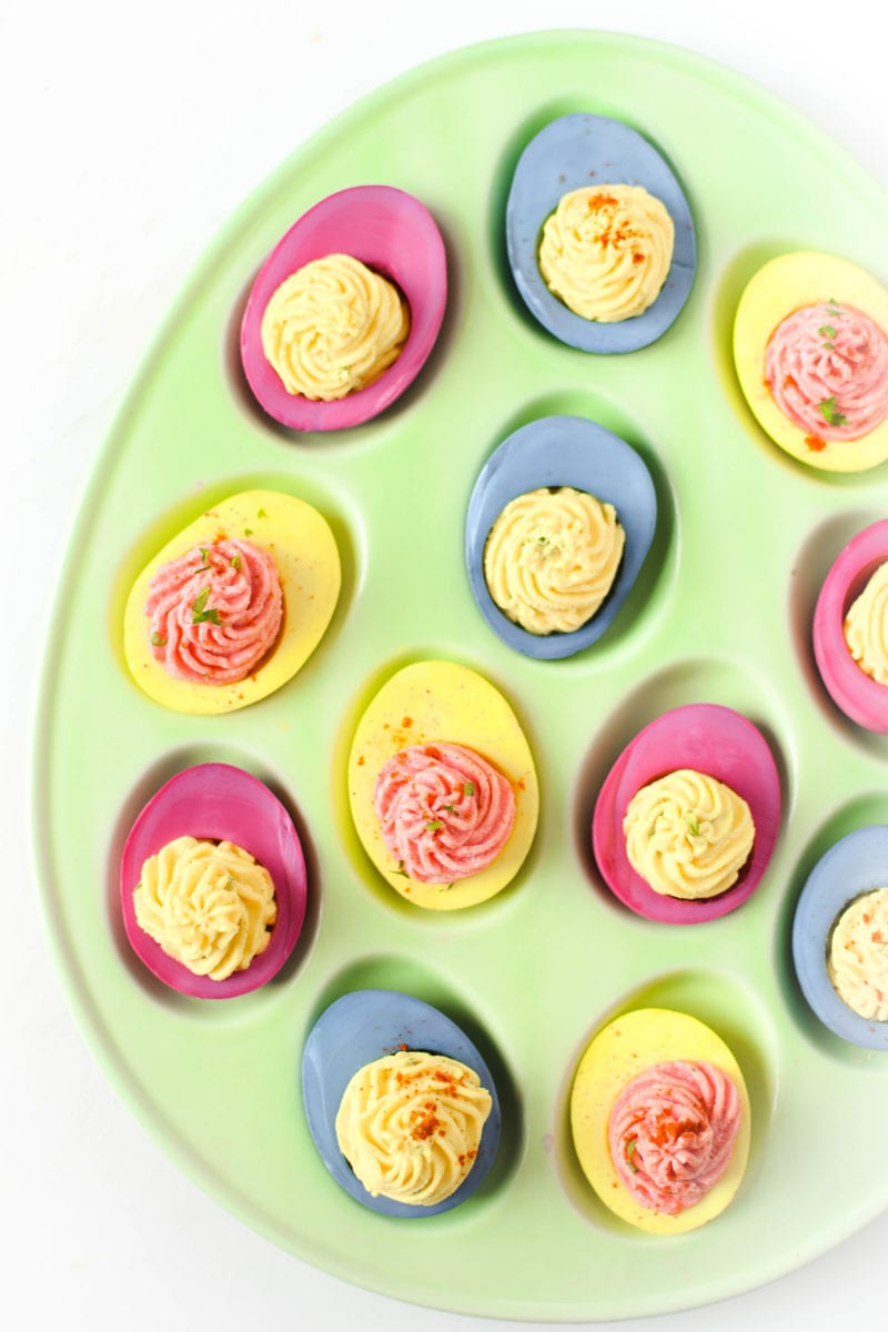 Naturally Dyed Deviled Eggs » Emily Kyle Nutrition
