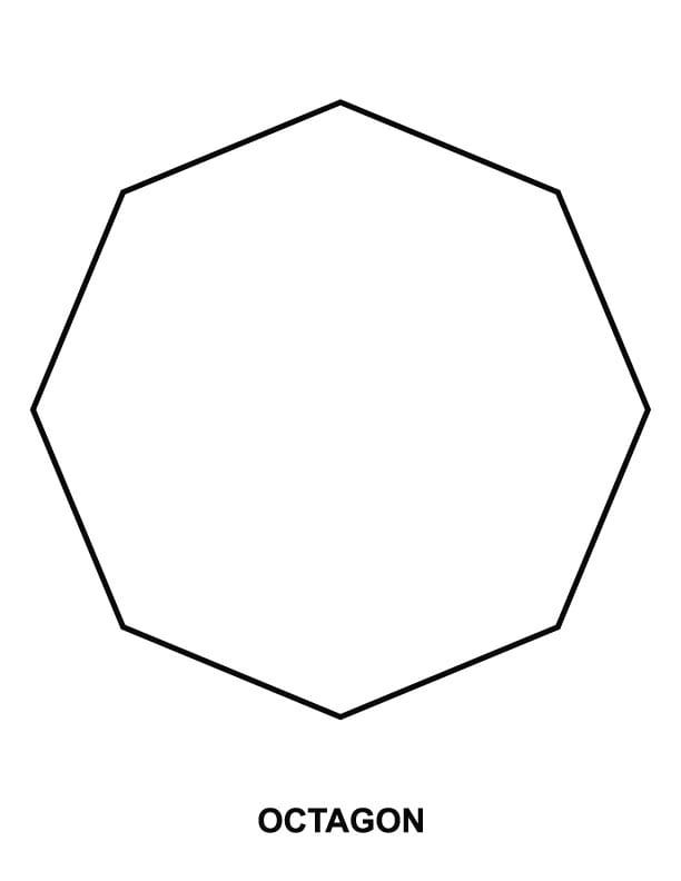 Image Gallery Octagon Coloring Page