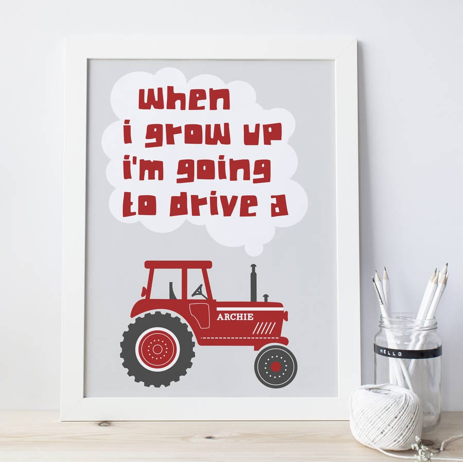 Personalised Tractor Print By Wink Design