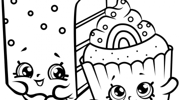 Birthday Cake Coloring Pages Free Printable