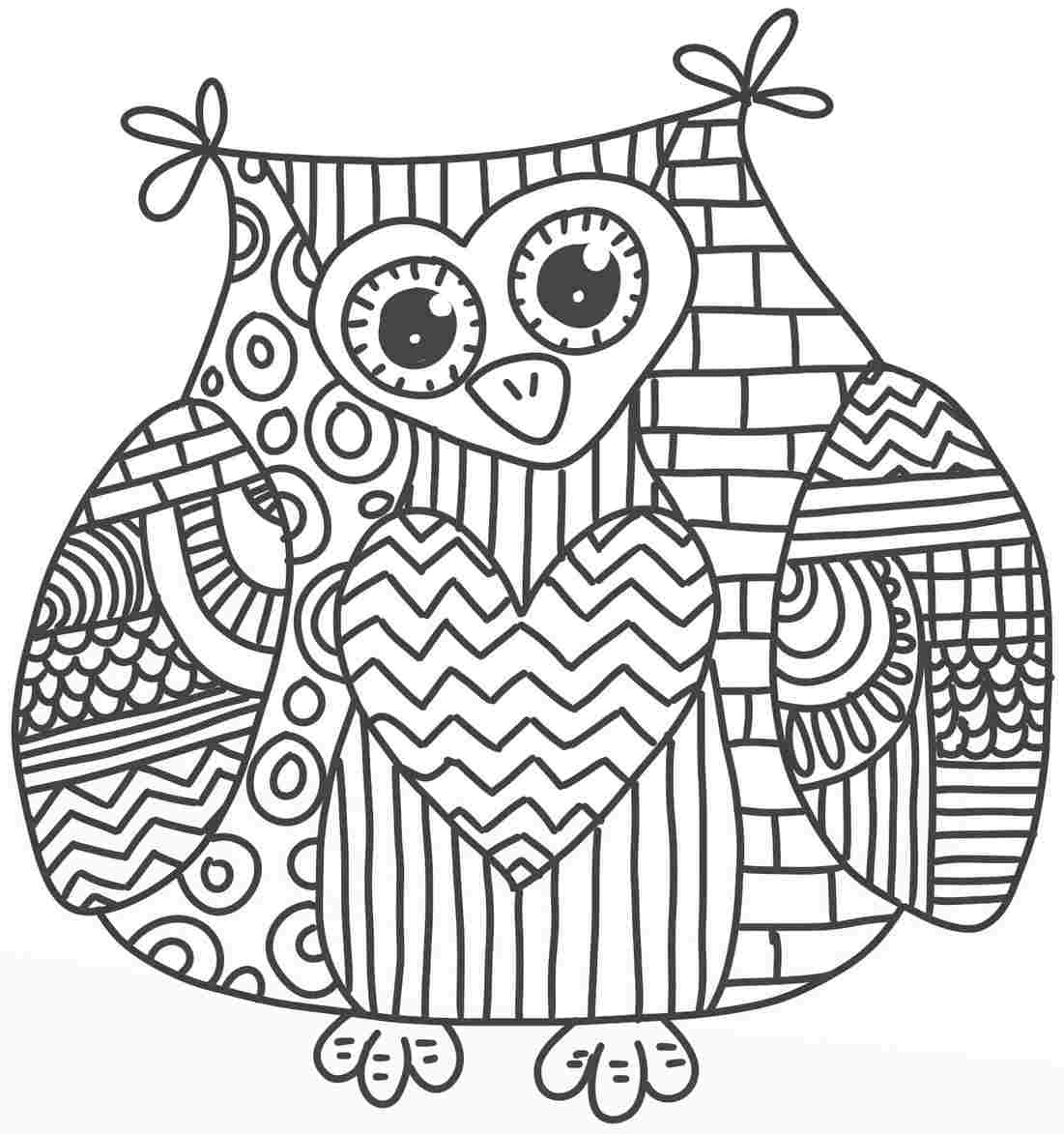 Owl Coloring Pages For Kids Printable 1 7