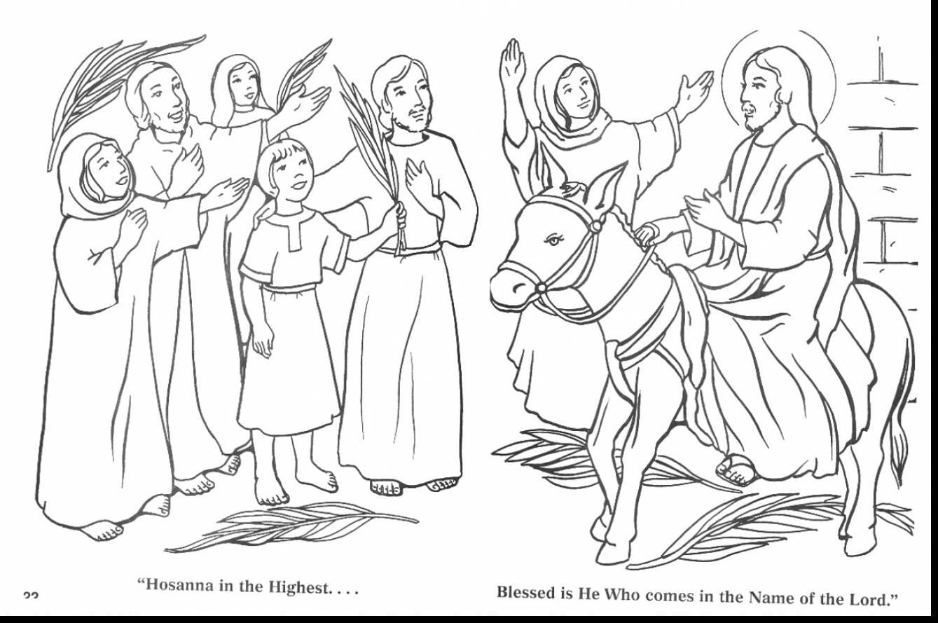 Palm Sunday Coloring Page 14  13129