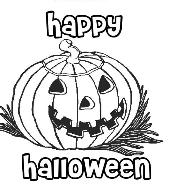 Printable Coloring Pages Of Halloween Pumpkins Latest 2014