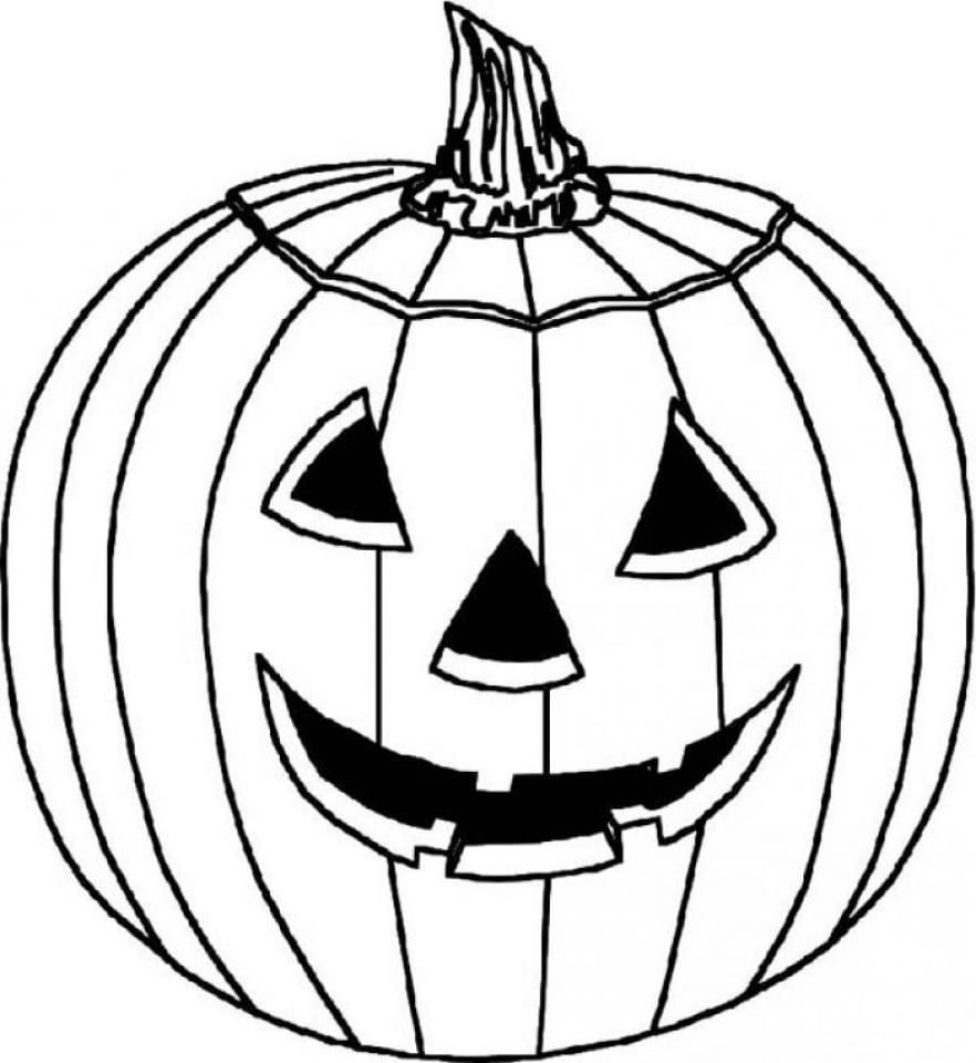 Pumpkin Coloring Pages Dcp4 Get This Halloween Pumpkin Coloring