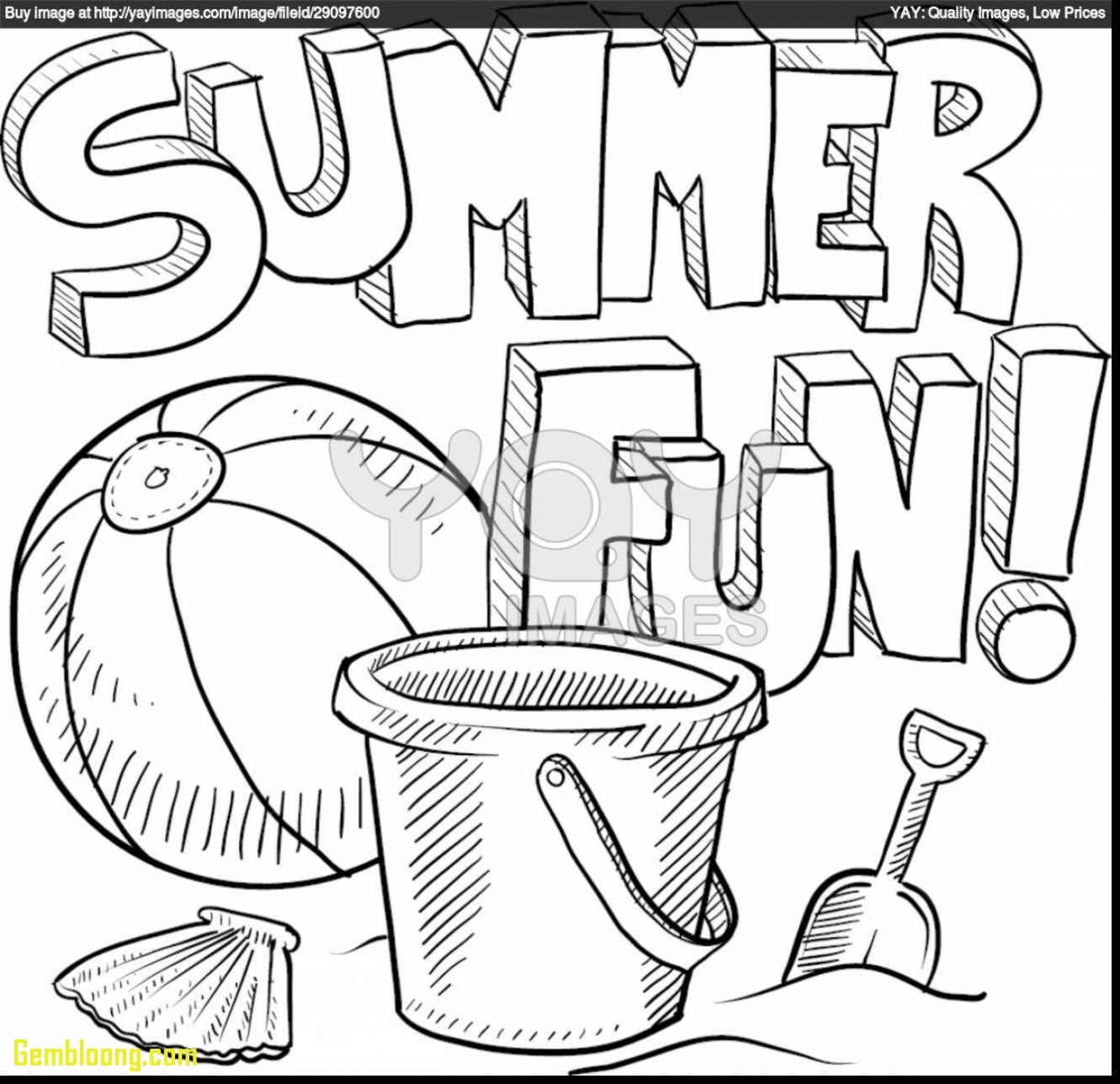 Reduced Summer Coloring Pages For Preschool Impressive Color Free