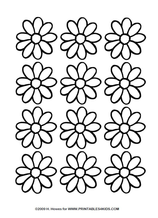 Great Daisy Coloring Sheets Preschool To Good Daisy Coloring Pages
