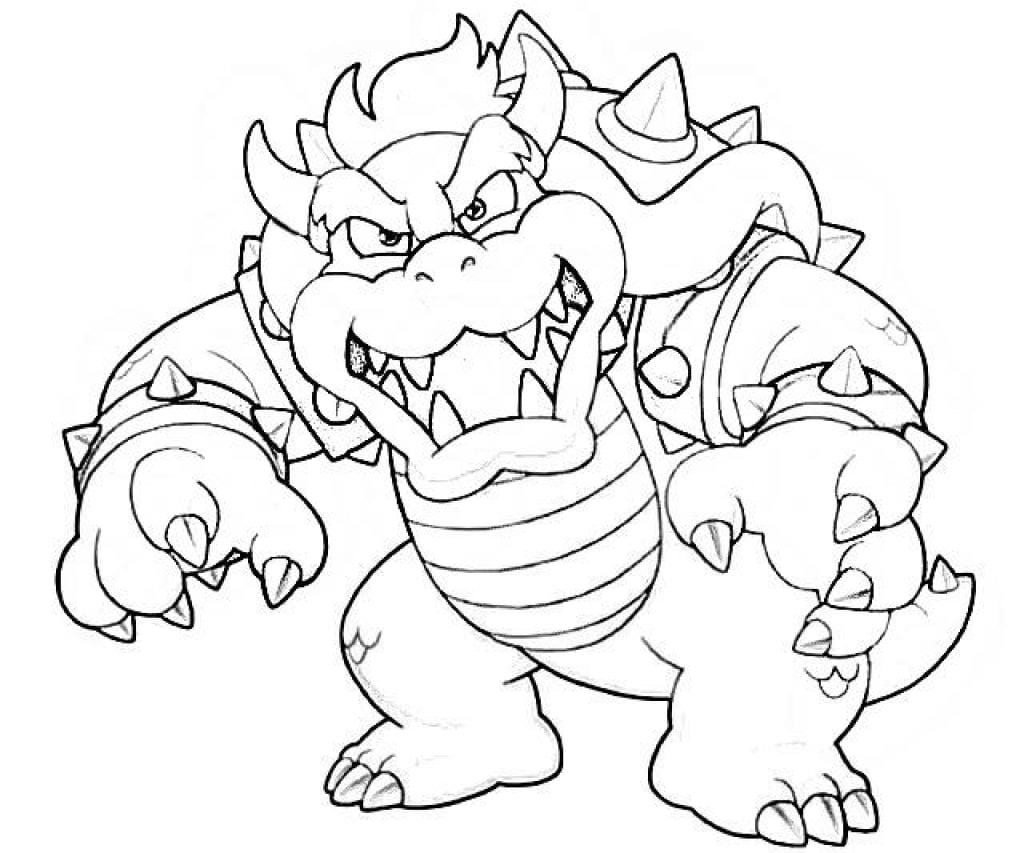 Revisited Bowser Coloring Page 3 Mapiraj