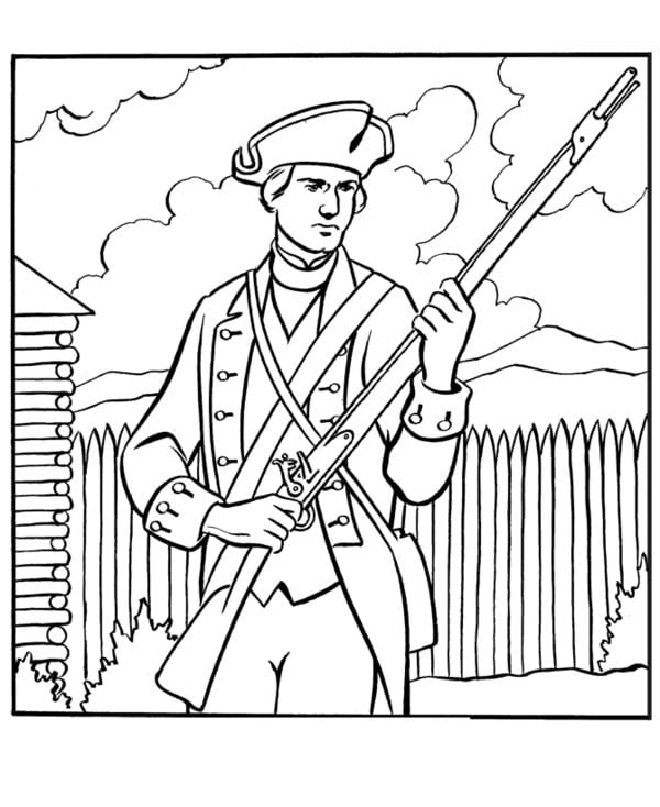 Revolutionary War Coloring Pages – Color Bros