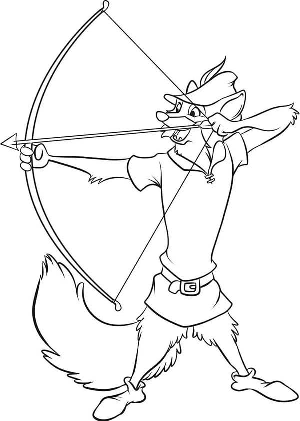 Robin Hood Coloring Pages Art Color Best Of