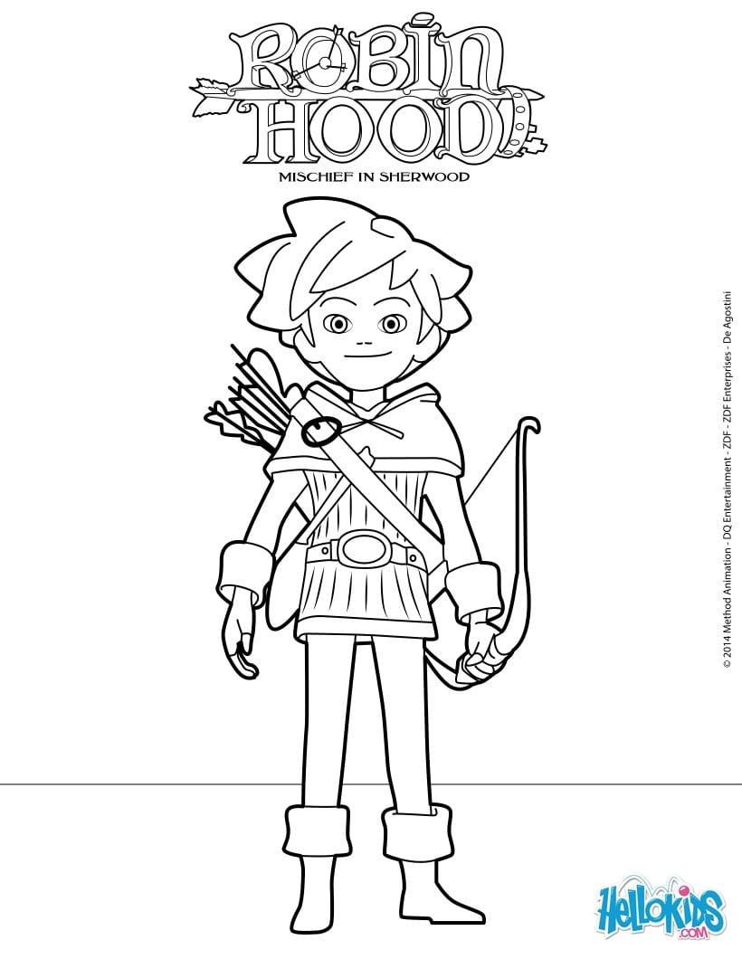 Robin Hood Mischief In Sherwood Coloring Pages Hellokids Com