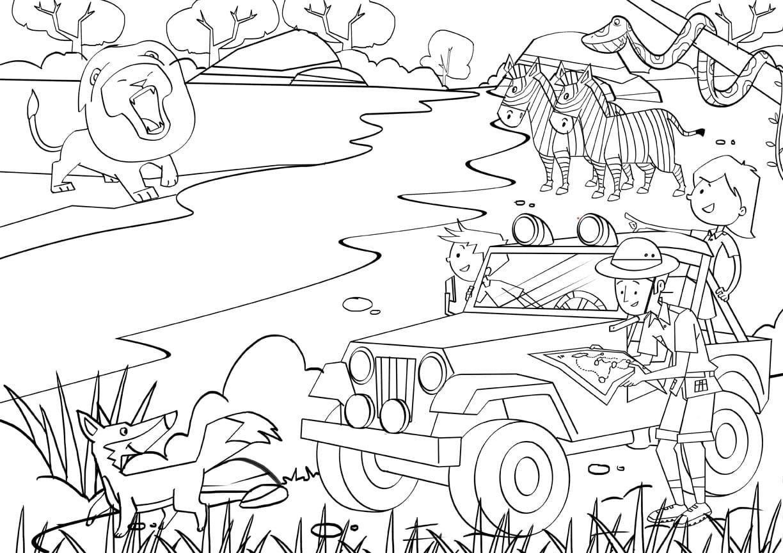 Safari Coloring Page 91 With Safari Coloring Page