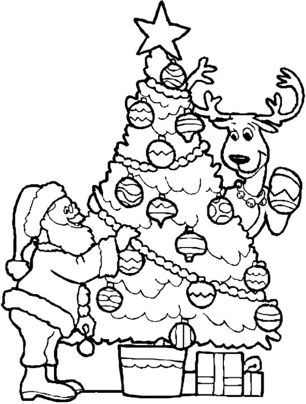 Christmas Tree And Presents Coloring Pages  Christmas Tree And
