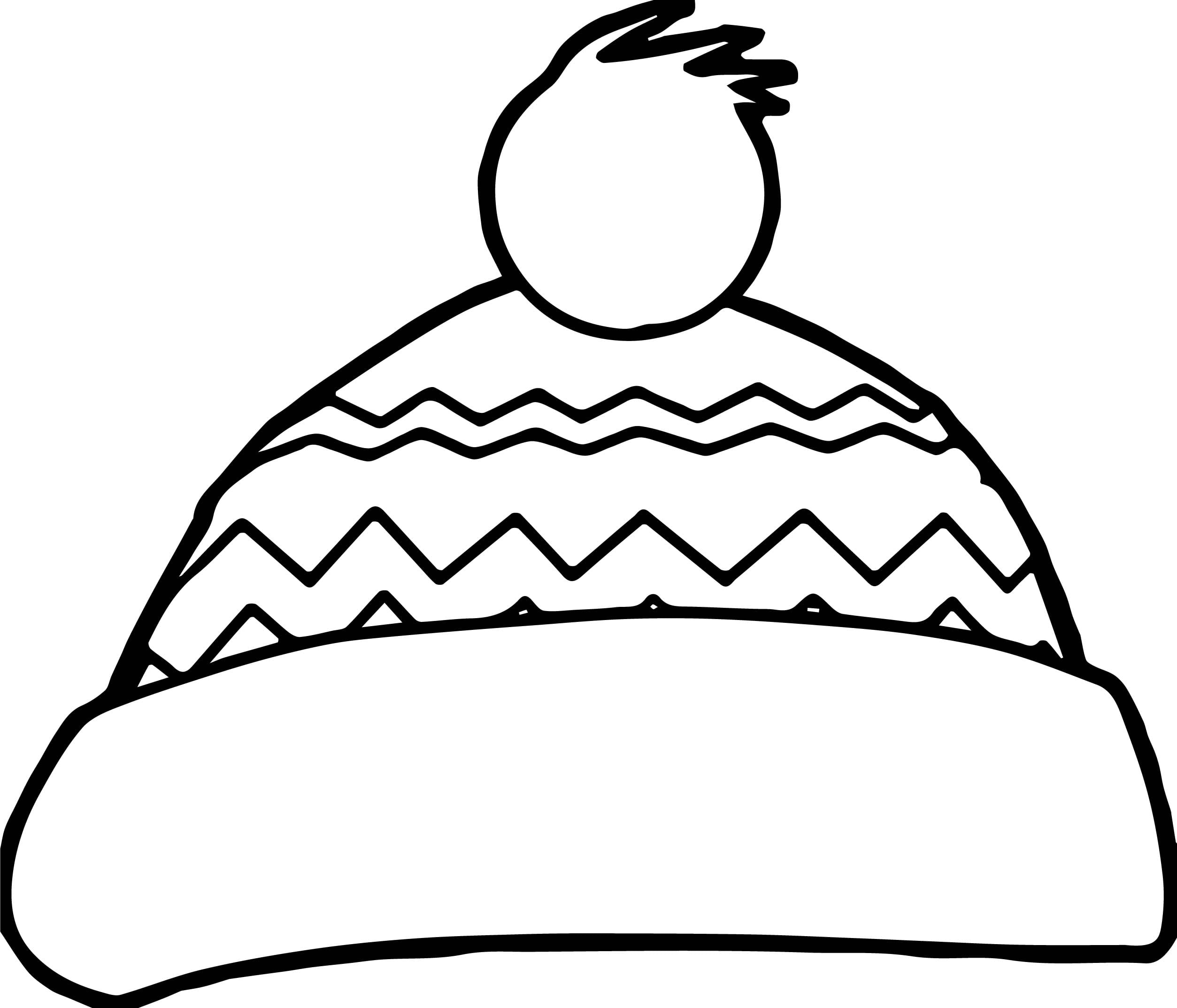 Printable Santa Hat Coloring Pages For Kids Cool2bkids New Page
