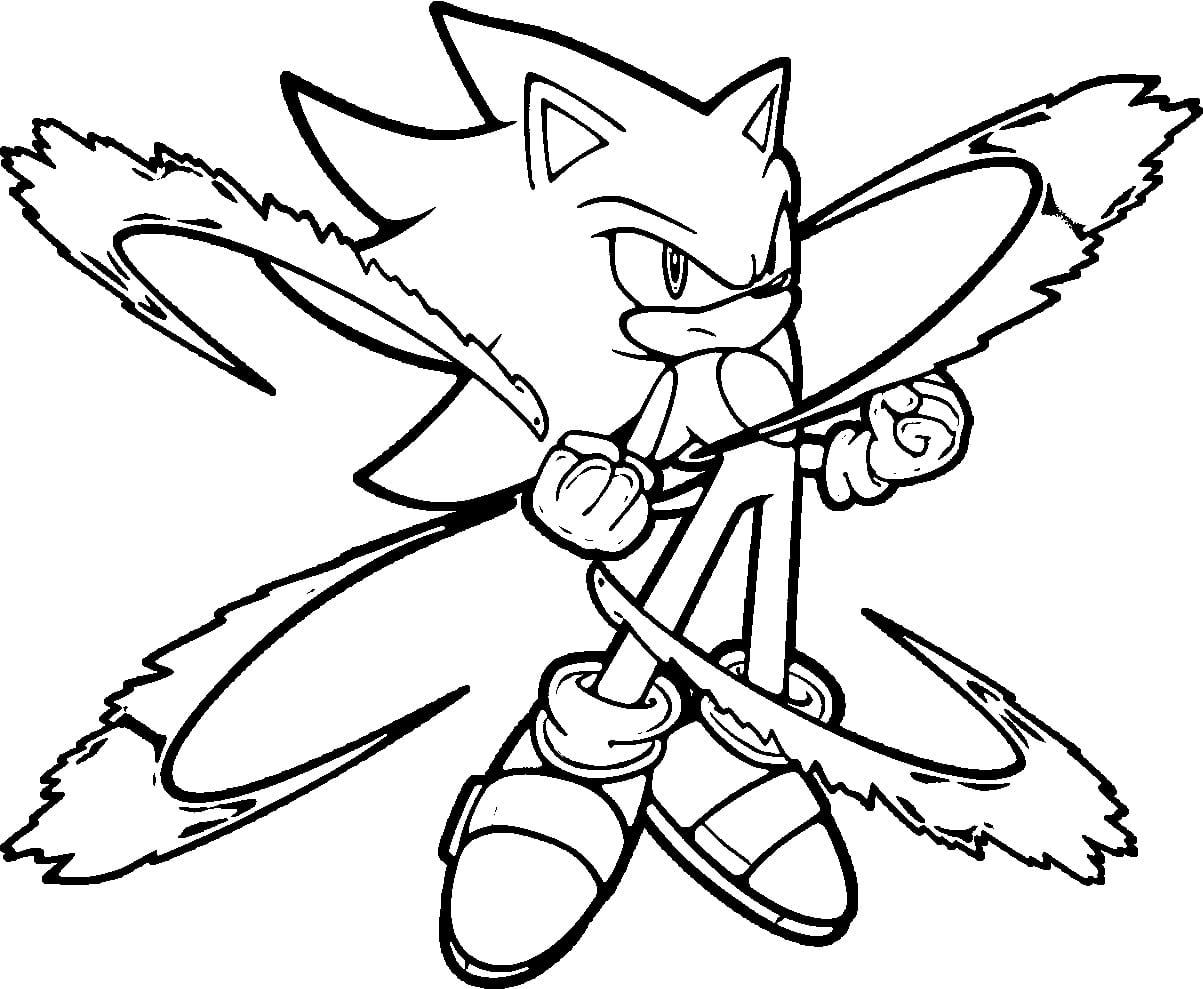 Scarce Hedgehog Coloring Page Sonic Pages Printable For