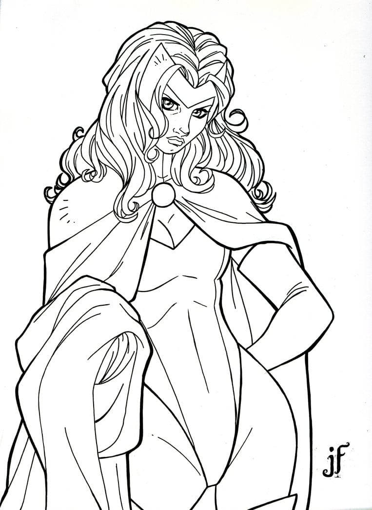 Scarlet Witch Coloring Pages Printable