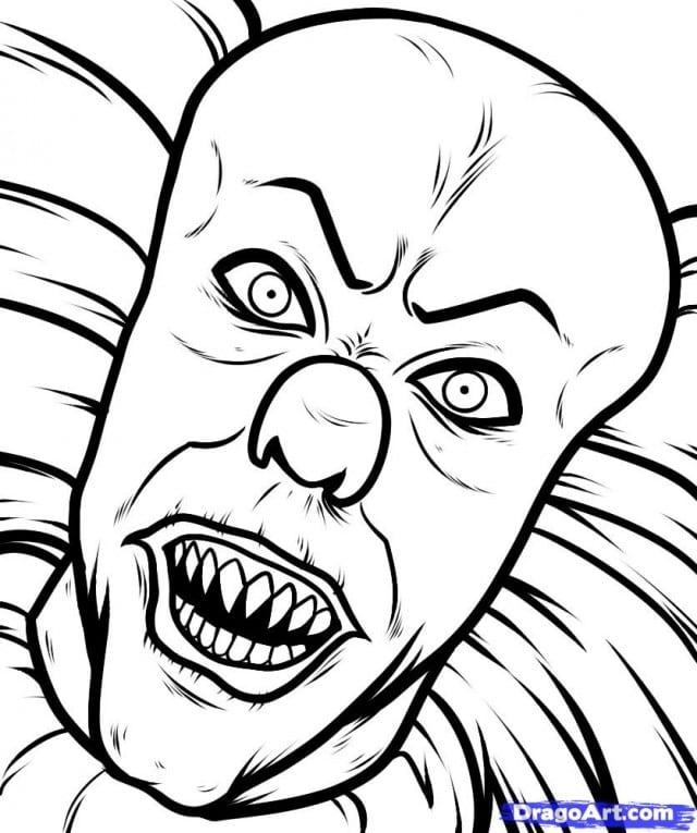 Scary Pictures To Color Halloween Mud Monster Coloring Page