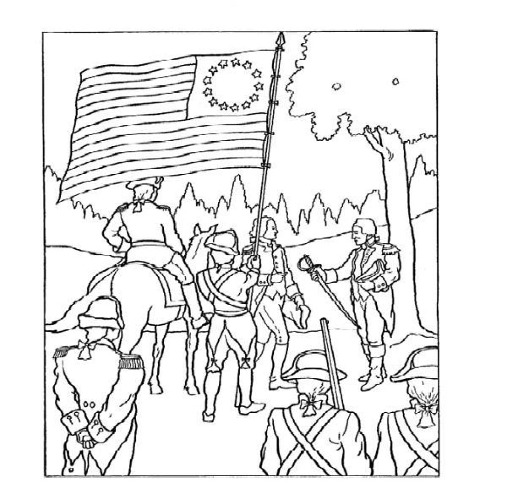 Selected American Revolution Coloring Pages Pdf Newyork Rp Com
