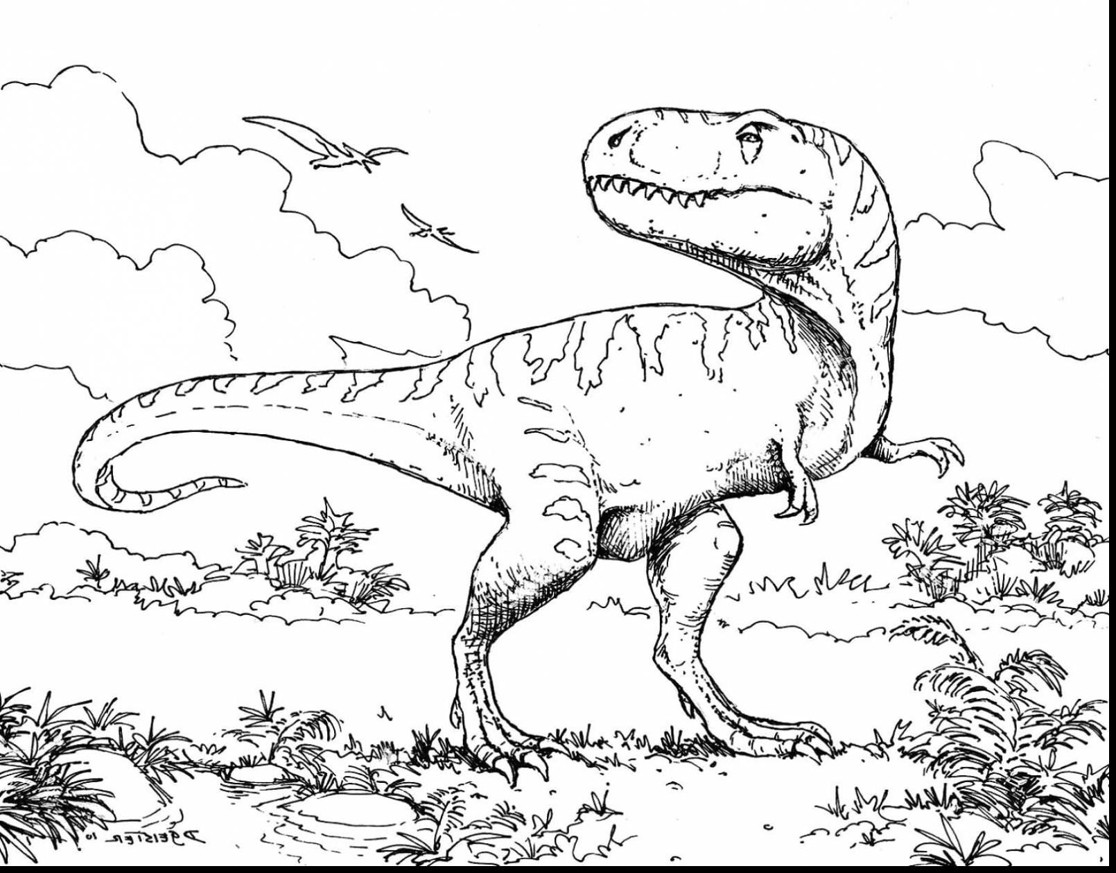 T Rex Coloring Pages All With
