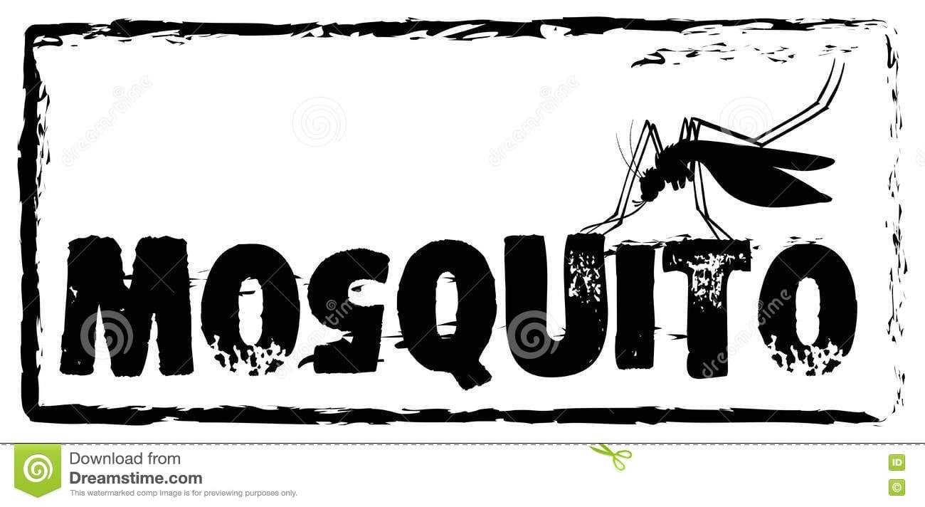Sign Saying Mosquito In Black Color Stock Vector